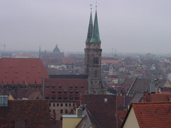 Hotel Burgschmiet: View of Old Nurnberg from Castle