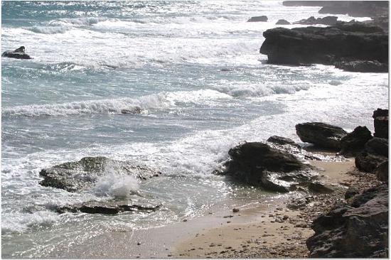 Villa La Bella: View of small beach area directy behind property