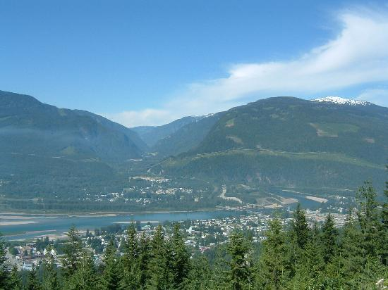 View of Revelstoke town.