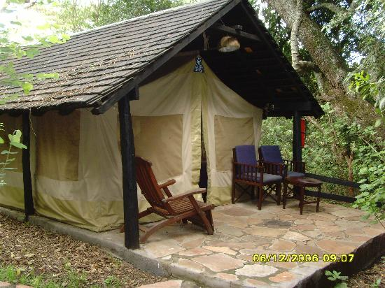 Sarova Mara Game Camp: Outside tent