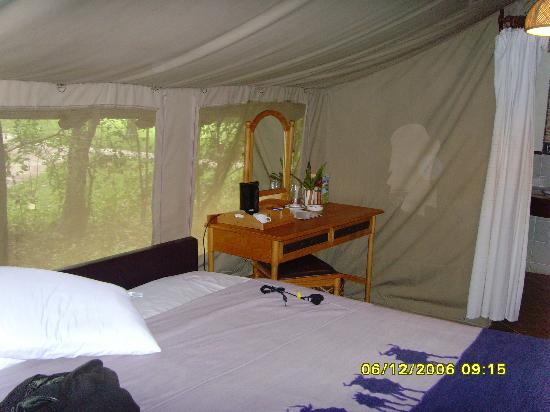 Sarova Mara Game Camp: In the tent