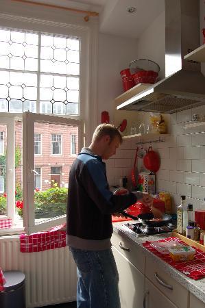 The Collector Bed & Breakfast: Making breakfast