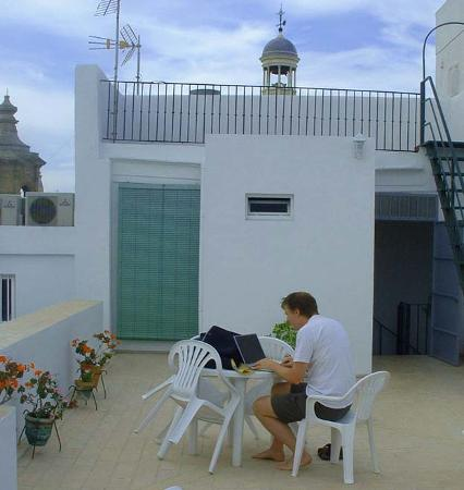 Hostal Fantoni: We even managed to get some work done in late afternoon…
