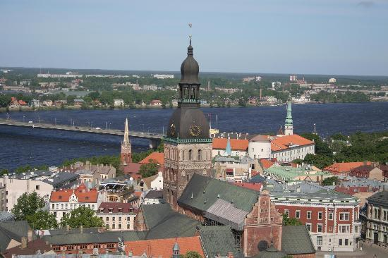 Ryga, Łotwa: View on Riga