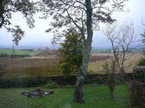 Mossat, UK: Morning view from our bedroom window