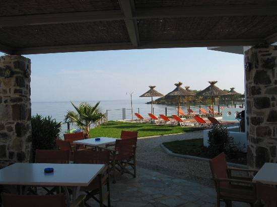 Ammos Hotel: The bar and the pool