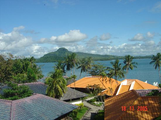 Leyte Park Resort Hotel : View from room of Leyte Gulf & Samar