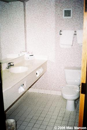 Comfort Suites: Looking into the large bathroom