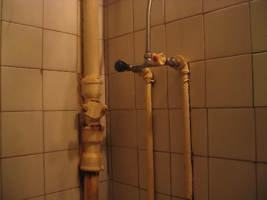 Hotel Neva - TEMPORARILY CLOSED: The pipes in the bathroom.