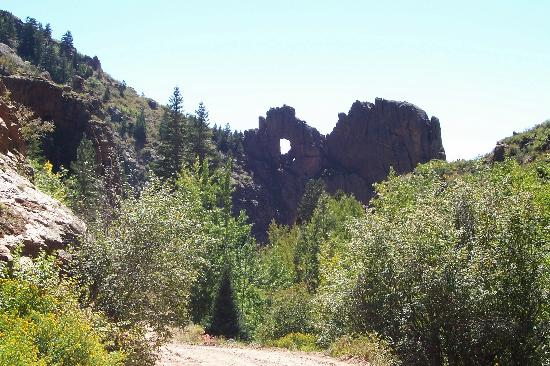 Cripple Creek, CO: Shelf hole in mtn