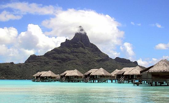 InterContinental Bora Bora Resort & Thalasso Spa: Mount Otemanu and Overwater Thalasso Villas