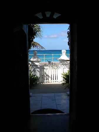 View from the doorway of Grand Turk Inn