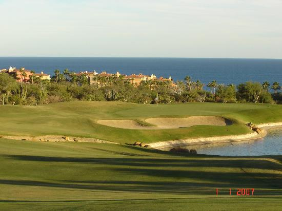 Desert Course at Cabo del Sol: #18 A closer view of this great finishing hole. By the way, I went in the water on my 2nd shot.