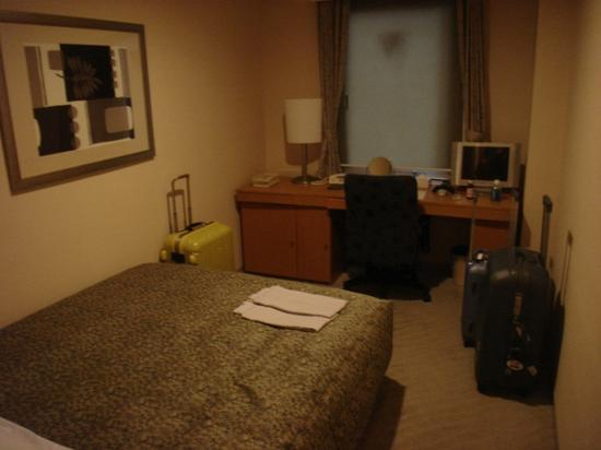 Sunroute Takadanobaba Hotel: The small room we stayed in