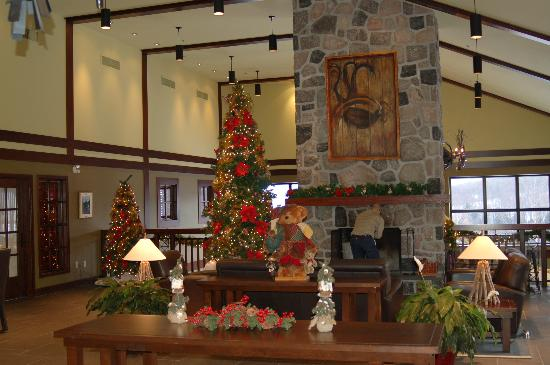 Auberge Duchesnay: Lobby waiting area