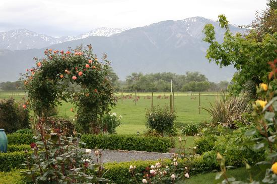 Fyffe Country Lodge: Gardens and view of mountains