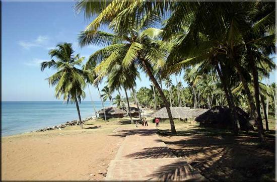 Hill View Beach Resort: Fishing village along clifftop