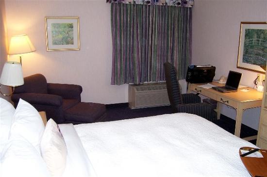 Hampton Inn Fremont: king alt view bed