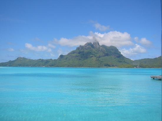 The St. Regis Bora Bora Resort: most beautiful view in the World from the st regis dock