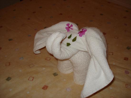 Posada Luna del Sur : Jesus's towel creatures