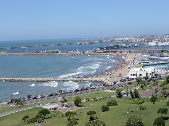 Mar del Plata, Argentina: San Martin Park and Playa Grande and Port behind (overview)