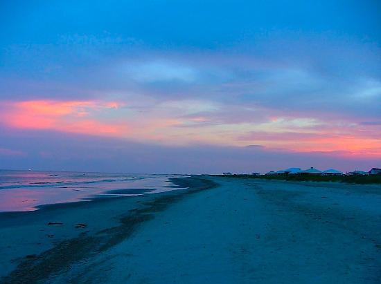 Grand Isle, LA: Sunset on Grande Isle