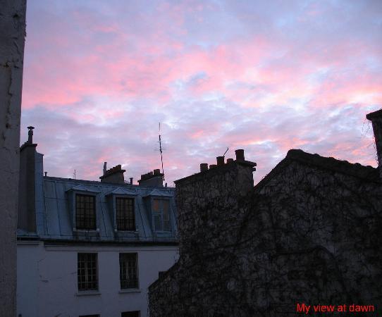 Hotel du Champ de Mars: From my window: Dawn over Paris rooftops