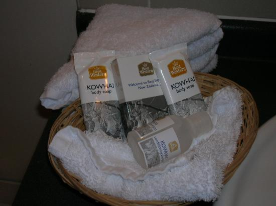 Best Western President Hotel Auckland: The toiletries