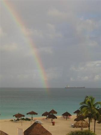 Bucuti & Tara Beach Resort Aruba: The View from Bucuti Tara Suites one Rainy Morning!
