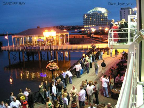 Summer evening in Cardiff Bay