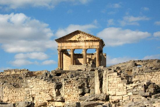 Beja Governorate, ตูนิเซีย: The main temple in Dougga