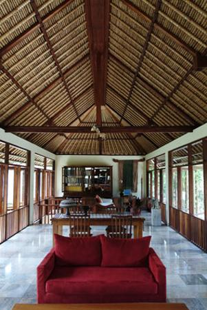 Komaneka at Tanggayuda: The library.