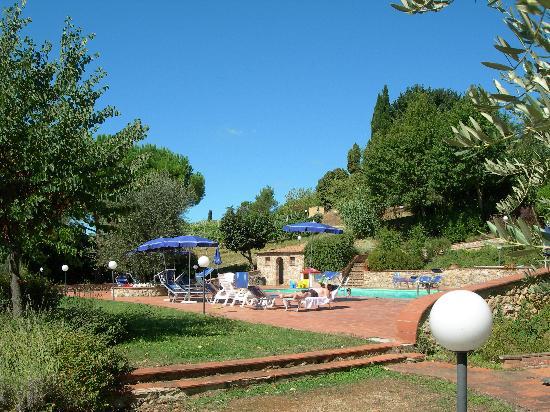 Villa Agostoli : The pool with that beautiful Tuscan sky