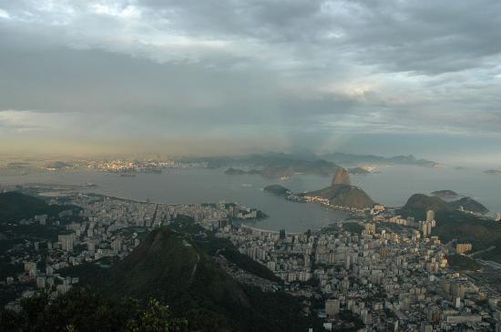 Rio de Janeiro, RJ: Sugarloaf from Cristo