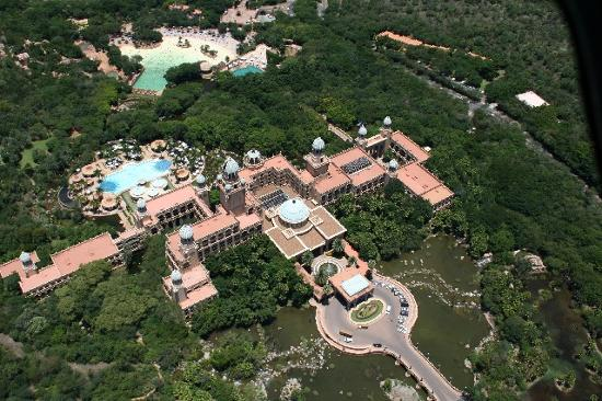 The Palace of the Lost City: from helicopter