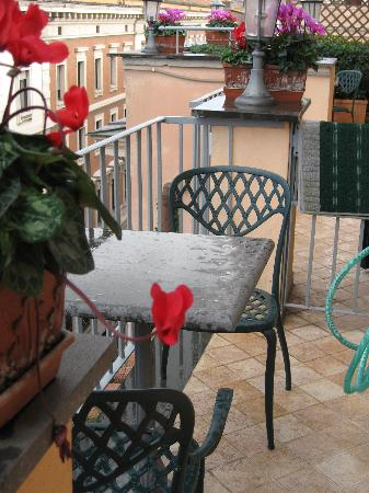 Hotel Regno: The balcony