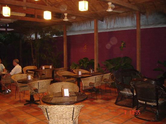 The Villa Siem Reap: The open air restaurant served fantastic food