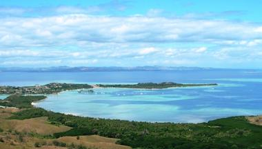 View from the top of the highest peak on Malolo island