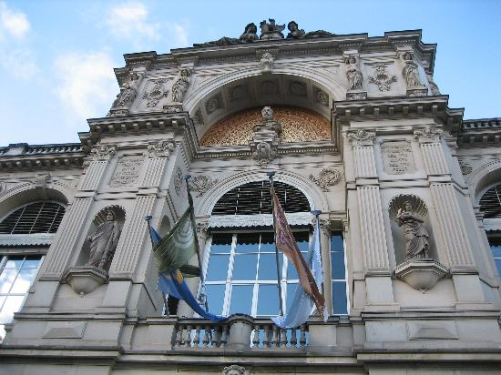 Baden-Baden, Tyskland: Close Up Picture of the Building