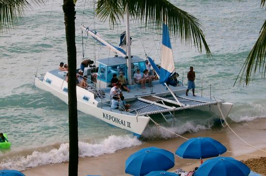 Outrigger Waikiki Beach Resort Catamaran Outside Hotel