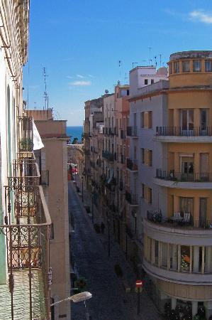 Hotel Placa de la Font: view to coast