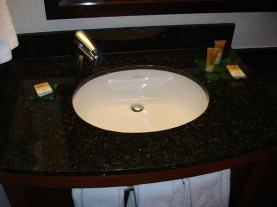 Hyatt Place Tucson Airport: Sink.  Hair dryer available in drawer.