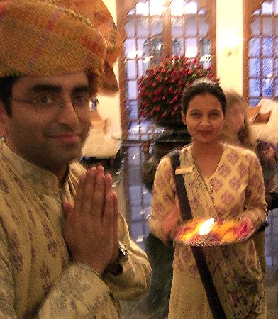 The Oberoi Vanyavilas: greeting