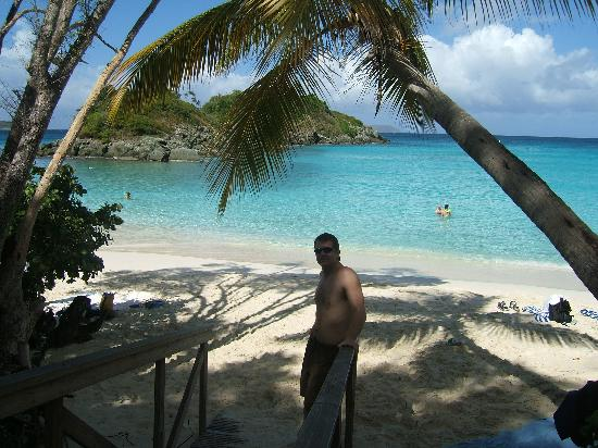 Entrance to Trunk Bay Beach