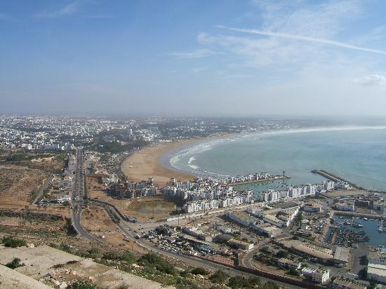 ‪أغادير, المغرب: Agadir & Port viewed from the Kasbah‬