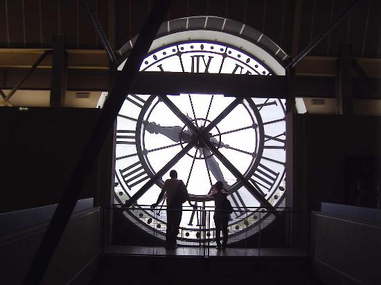 Musée d'Orsay: giant clock from inside museum