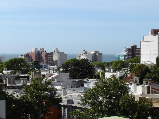 Tryp Montevideo: View from our room on the 4th floor.