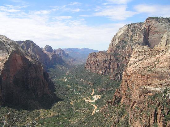 Looking down-canyon (south) from Angel's Landing