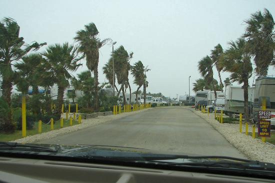 South Padre Island KOA: Entrance into park
