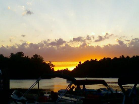 Clear Water Harbor: Sunset from the deck.